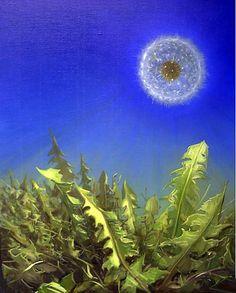 Dandelion - Pierre Marcel contemporary  Surrealist painter  