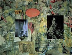 """dcpnomadictraveler: """" Came across David Salle's artwork….so many layers it just draws you in and keeps you there. From: http://www.escapeintolife.com/artist-watch/david-salle/ """""""
