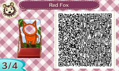 ACNL QR CODE-Red Fox Standee