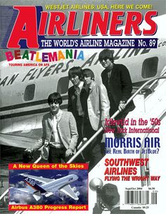 Cool memorabilia of The Beatles 1964 tour.  The airline shown in the back was the one my dad flew for in the '60's.