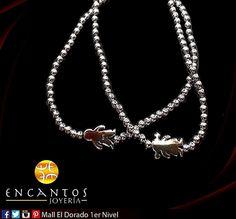 Pulseras de plata .925 con motivos de niños y niñas.  www.encantosjoyeria.com