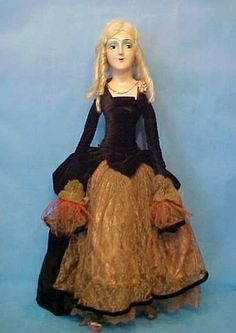 ... composition cloth French Boudoir Bed doll with orig clothing | eBay