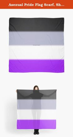 """Asexual Pride Flag Scarf, Shawl, Wrap. This is a beautiful 55"""" square, microfiber polyester scarf that features my original art/design, and has a slightly transparent effect. The print is fully visible on the front and the back. ---------------------------------------------------------------------------------------------------------------------------------------- Hand wash only. Do not dry clean or tumble dry...."""