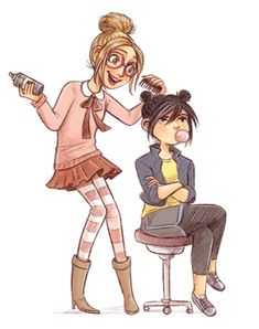 Courtney Godbey Illustration~ haha honey would totally try to do that to gogo!