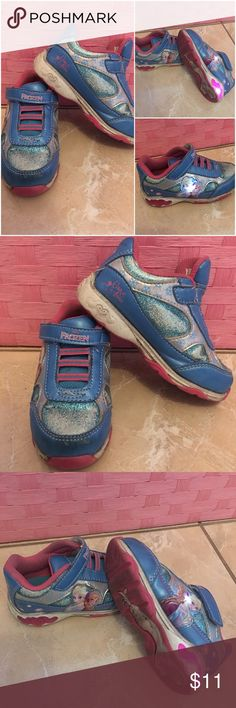 Light up Sneakers Disney Frozen lightup Sneakers. Size 8 toddler. In fair conditions Disney Shoes Sneakers
