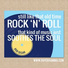 Old Time Rock N Roll, Bob Segar