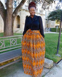 Light Brown Maxi High Waist Skirt; African Clothing; African fashion; African Print; African Skirt; African Clothing;