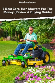 The Zero Turn Mowers (ZTR) are expensive but required part of your gardening endeavor. Read more at our best list of zero turn mowers and the buying guide so you don't make an expensive mistake or buying the wrong mower. Best Zero Turn Mower, Zero Turn Lawn Mowers, Yard Tools, Riding Lawn Mowers, Modern Design, Money, Stuff To Buy, Storage