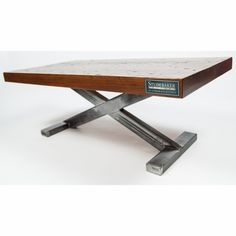 Reclaimed Studebaker Factory Model 1 Coffee Table - Amber