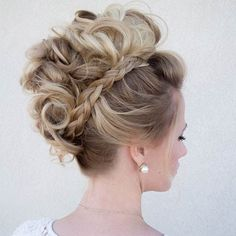 For hairstyles short wedding hair tutorial bridals for mon the faux bride cheri hawk edgy bridal Faux Hawk Hairstyles, Up Hairstyles, Braided Hairstyles, Wedding Hairstyles, Braided Mohawk, Faux Hawk Updo, Curly Faux Hawk, Mohawk Updo, Faux Mohawk