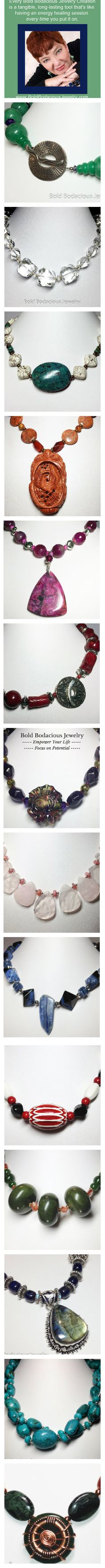 Every Piece of Bold Bodacious Jewelry is a tangible, long-lasting tools, that's like having an energy healing session every time you put it on. www.boldbodaciousjewelry.com