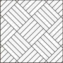 Parkett  Holzboden, Würfelmuster, diagonal - Parquet woodfloor diagonal basket weave