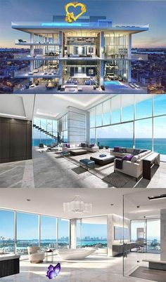 backbifunow florida luxury homes real estates 15 best decoration ideas - Page 2 of 5 - Florida luxury waterfront condo -  florida luxury homes real estates 15 best decoration ideas – Page 2 of 5 – Florida luxury water - #condo #decoration #estates #florida #homes #ideas #KateMiddleton #luxury #ModernArchitecture #Page #real #waterfront<br> Dream Home Design, Modern House Design, Luxury Penthouse, Luxury Condo, New York Penthouse, Penthouse Apartment, Dream Mansion, Luxury Homes Dream Houses, Modern Mansion