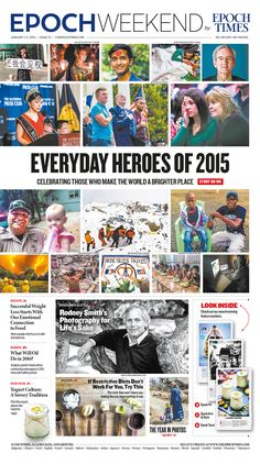 Everyday Heroes of 2015|Epoch Times #Review #newspaper #editorialdesign