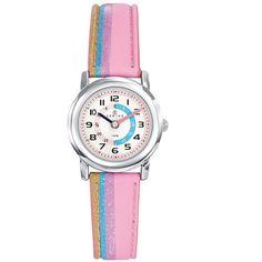 Montre enfant Certus Arc en ciel rose, une vraie montre de petite fille