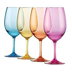 image of Wine Enthusiast Mixed Color Wine Glasses (Set of 4)