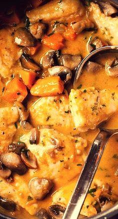 Chicken, Mushroom, and Pumpkin Stew