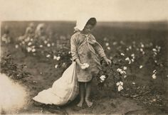 1916 Child Labor - 5 Yr old Vera Hill Picked 25lbs of cotton a day,