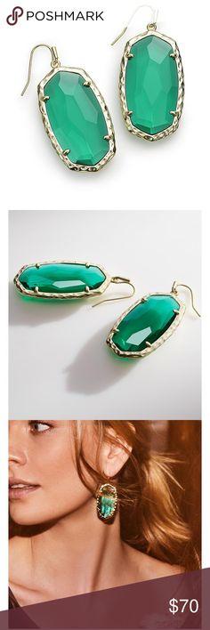 Kendra Scott BNWT Ellas in Emerald Green $70 Sold out online! Gorgeous Ellas in Emerald green!! Comes with KS Bag Kendra Scott Jewelry Earrings