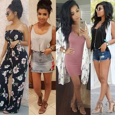 All about the last few outfits 🤗 what look was your favorite? Trendy Summer Outfits, Hot Outfits, Edgy Outfits, Club Outfits, Night Outfits, Spring Outfits, Fashion Outfits, Young Mom Outfits, Cute Casual Outfits