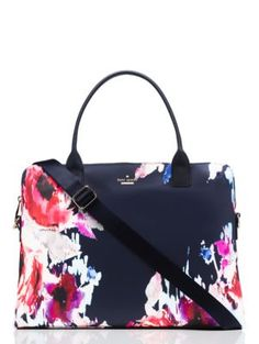 hazy floral daveney laptop bag - kate spade new york