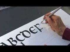 Use quotations to practice calligraphy in uncial hand. Learn about the uncial hand in calligraphy with this free handwriting video from a calligrapher. Calligraphy Video, Calligraphy Tutorial, Calligraphy Cards, Calligraphy Practice, How To Write Calligraphy, Calligraphy Alphabet, Doodle Lettering, Brush Lettering, Alphabet Video