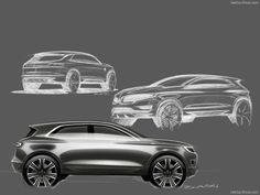 Lincoln MKC Concept Sketches