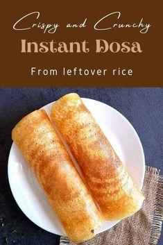 Green Mango Chutney, Leftover Rice, Veg Dishes, Vegetarian Lunch, Crepes, Baking Soda, Indian, Night, Cooking