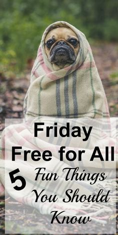 It's the Friday Free for All! Here are 5 fun things you should know! #running #ad #vegan