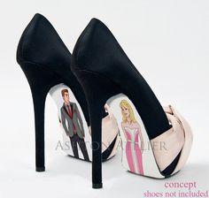 Custom hand painted Sleeping Beauty shoes por AshtonAtelier en Etsy, $45.00