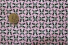Timeless Treasures Tiny Pandas Pink Fabric  by luckykaerufabric, $4.60