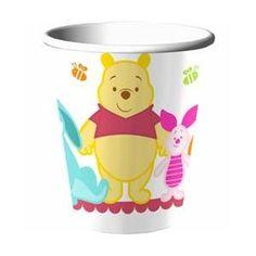 Hallmark Disney Pooh Little Hunny Bunny Baby Shower 9 Oz. Paper Cups~Walmart