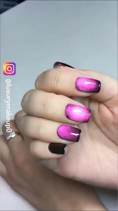 Luxury Nail Designs 💅🏻 - New Ideas Fingernail Designs, Nail Polish Designs, Nail Art Designs, Classy Nails, Cute Nails, Pretty Nails, Hair And Nails, My Nails, Cat Eye Nails Polish