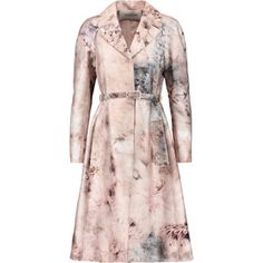 Valentino Belted printed cotton and silk-blend coat
