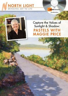 In this art lesson from http://artistsnetwork.tv, Maggie Price demonstrates her favorite pastel painting techniques for creating beautiful sunlight and shadow in a landscape.