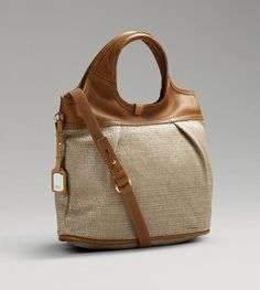 UGG Straw Convertible Tote Women's Caramel Purse