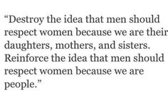 #Women are people