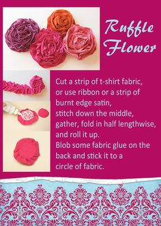 Buzz About Baby: Lots of flower tutorials