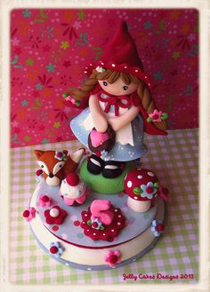 *POLYMER CLAY ~ Little Red Ridinghood Keepsake Cake Topper by Jelly Lane Designs, via Flickr