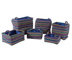 Набор из 6 сумок для хранения Millerighe - ткань
