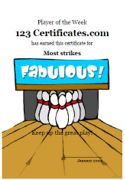 free printable bowling certificates bowling awards bowling certificate templates and bowling party printables for free - Bowling Certificates Template Free