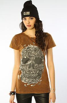 The Feather Skull Tee in Black by Your Eyes Lie