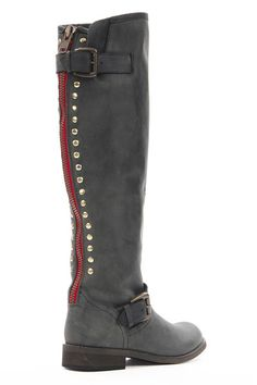Steve Madden boots. I love the pop of color along the zipper, but when I tried these on they weren't very comfortable.