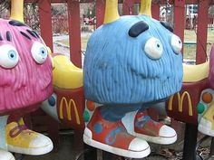 Old School McDonald's Playground: I liked the Fry Guys best!