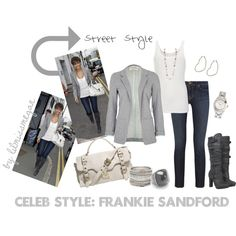 Celeb Style: Frankie Sandford, created by lilmissmegan on Polyvore
