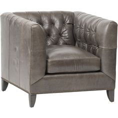 Emerson Leather Chair, Libby Storm-light brown/grey $1900