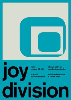 Graphic designer Mike Joyce has created a poster series that pulls from his passion for punk music and Swiss modernism. Joy Division Poster, Mike Joyce, International Typographic Style, Manchester, Band Posters, Music Posters, Event Posters, Swiss Design, Flat Design