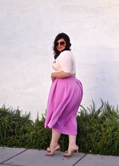 Spring Fashion: pretty purple skirt