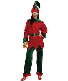 Take a look at this Red Deluxe Santa's Helper Dress-Up Set - Women by Forum Novelties on #zulily today!