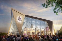 Proposed design for new Minnesota Vikings stadium.